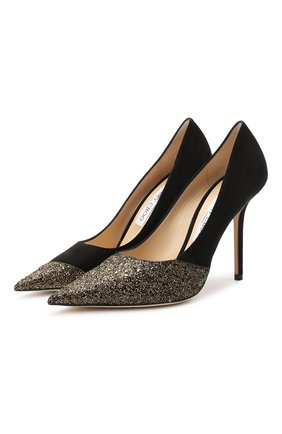 Женская кожаная туфли love 100 JIMMY CHOO золотого цвета, арт. L0VE 100/LZX | Фото 1