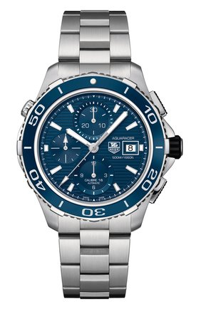 Мужские часы caliber 16 TAG HEUER синего цвета, арт. CAK2112.BA0833 | Фото 1