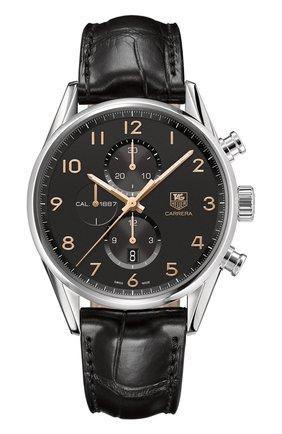 Мужские часы caliber 1887 TAG HEUER черного цвета, арт. CAR2014.FC6235 | Фото 1