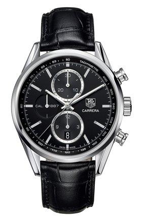 Мужские часы caliber 1887 TAG HEUER черного цвета, арт. CAR2110.FC6266 | Фото 1
