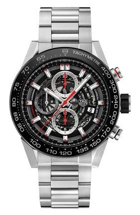 Мужские часы caliber heuer01 TAG HEUER серого цвета, арт. CAR2A1W.BA070 | Фото 1