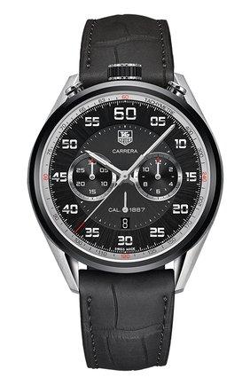 Мужские часы caliber 1887 TAG HEUER черного цвета, арт. CAR2C12.FC6327 | Фото 1