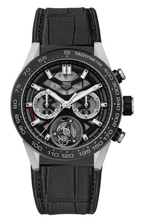 Мужские часы caliber heuer02 TAG HEUER серого цвета, арт. CAR5A8Y.FC6377 | Фото 1