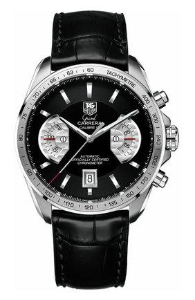Мужские часы calibre 17 TAG HEUER черного цвета, арт. CAV511A.FC6225 | Фото 1