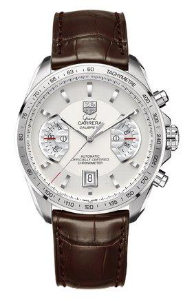 Мужские часы calibre 17 TAG HEUER белого цвета, арт. CAV511B.FC6231 | Фото 1