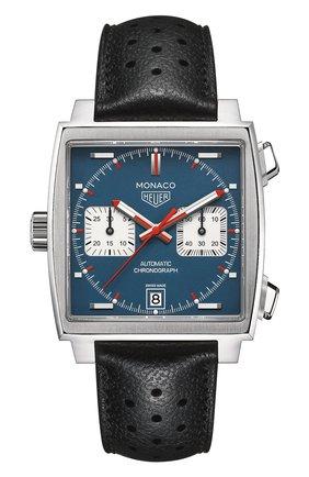 Мужские часы caliber 11 TAG HEUER синего цвета, арт. CAW211P.FC6356 | Фото 1