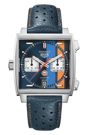 Мужские часы monaco caliber 11 TAG HEUER синего цвета, арт. CAW211R.FC6401 | Фото 1