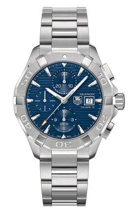 Мужские часы caliber 16 TAG HEUER синего цвета, арт. CAY2112.BA0925 | Фото 1
