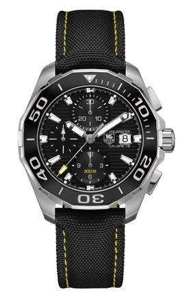 Мужские часы caliber 16 TAG HEUER черного цвета, арт. CAY211A.FC6361 | Фото 1