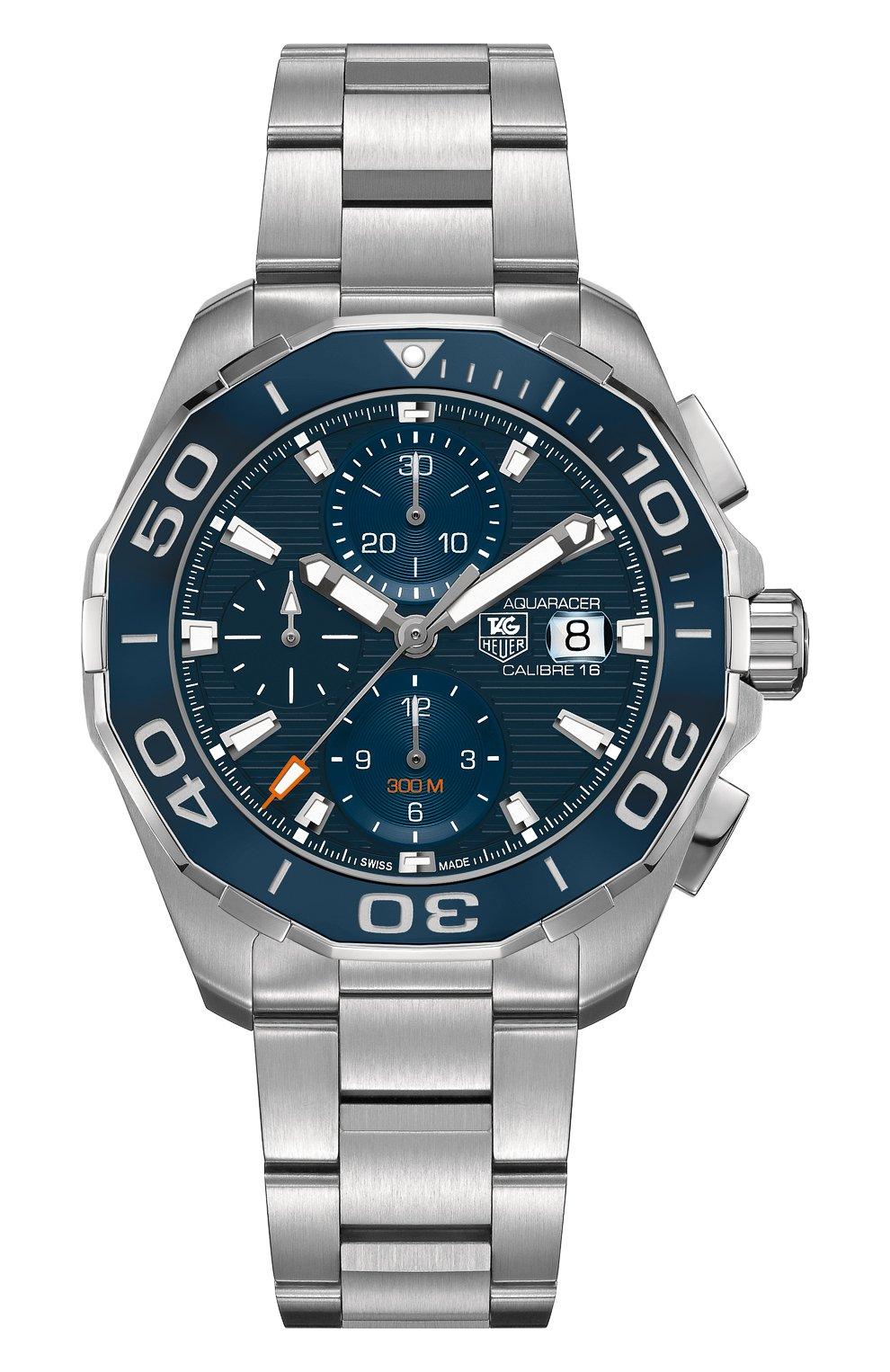 Мужские часы caliber 16 TAG HEUER синего цвета, арт. CAY211B.BA0927 | Фото 1