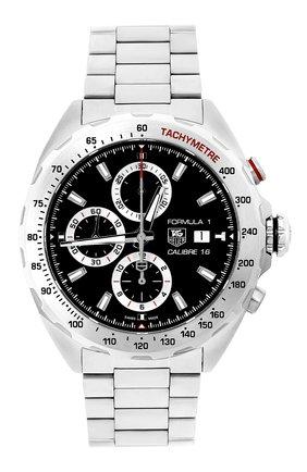 Мужские часы calibre 16 TAG HEUER черного цвета, арт. CAZ2010.BA0876 | Фото 1