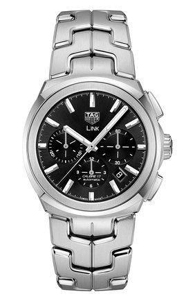 Мужские часы link caliber 17 TAG HEUER черного цвета, арт. CBC2110.BA0603 | Фото 1