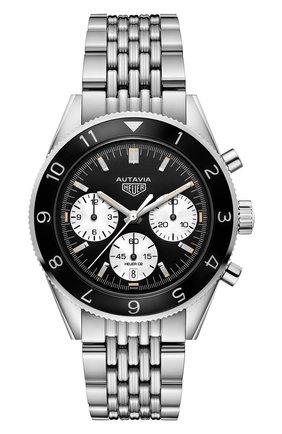 Мужские часы calibre heuer 02 TAG HEUER черного цвета, арт. CBE2110.BA0687 | Фото 1