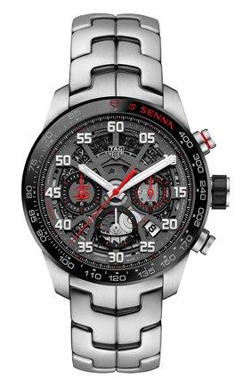 Мужские часы carrera caliber heuer 02 TAG HEUER серого цвета, арт. CBG2013.BA0657 | Фото 1