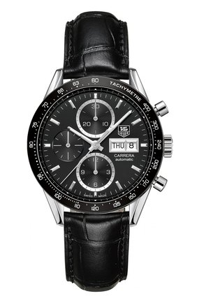 Мужские часы caliber 1887 TAG HEUER черного цвета, арт. CV201AG.FC6266 | Фото 1
