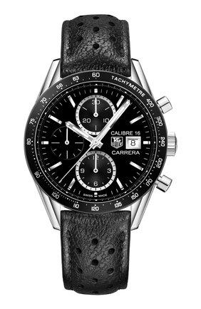 Мужские часы caliber 16 TAG HEUER черного цвета, арт. CV201AJ.FC6357 | Фото 1