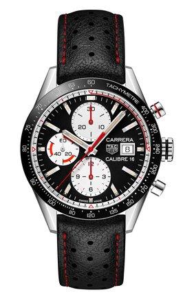 Мужские часы carrera TAG HEUER черного цвета, арт. CV201AP.FC6429 | Фото 1