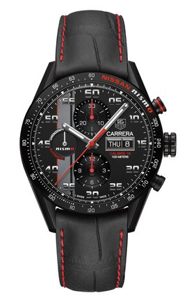 Мужские часы calibre 16 day-date TAG HEUER черного цвета, арт. CV2A82.FC6237 | Фото 1