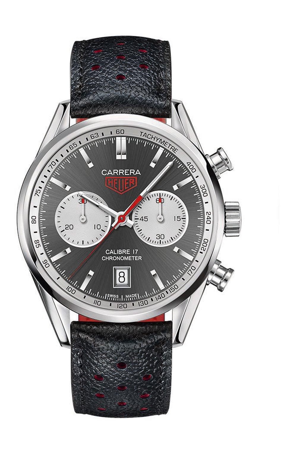 Мужские часы calibre 17 TAG HEUER серого цвета, арт. CV5110.FC6310 | Фото 1