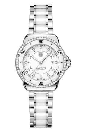 Женские часы TAG HEUER белого цвета, арт. WAH1313.BA0868 | Фото 1