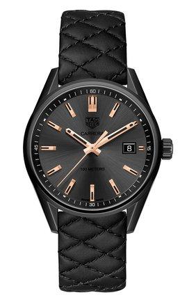 Женские часы TAG HEUER черного цвета, арт. WAR1113.FC6392 | Фото 1
