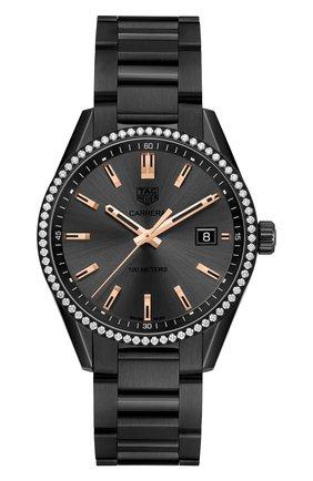 Женские часы TAG HEUER черного цвета, арт. WAR1115.BA0602 | Фото 1