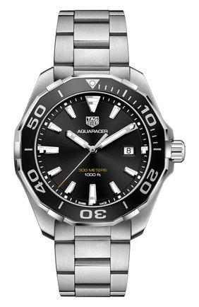 Мужские часы TAG HEUER черного цвета, арт. WAY101A.BA0746 | Фото 1