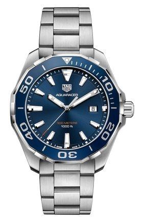 Мужские часы TAG HEUER синего цвета, арт. WAY101C.BA0746 | Фото 1