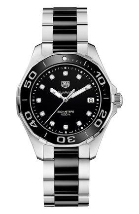 Женские часы TAG HEUER черного цвета, арт. WAY131C.BA0913 | Фото 1