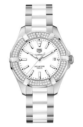 Женские часы TAG HEUER белого цвета, арт. WAY131F.BA0914 | Фото 1