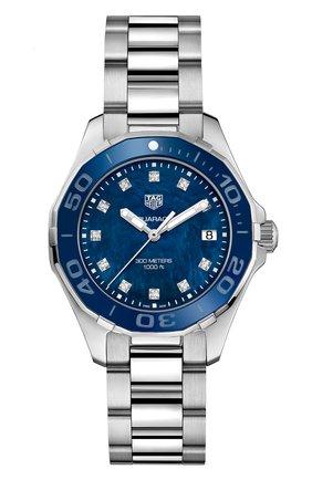 Женские часы TAG HEUER синего цвета, арт. WAY131L.BA0748 | Фото 1