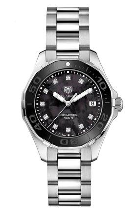 Женские часы TAG HEUER черного цвета, арт. WAY131M.BA0748 | Фото 1