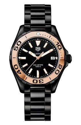 Женские часы TAG HEUER черного цвета, арт. WAY1355.BH0716 | Фото 1