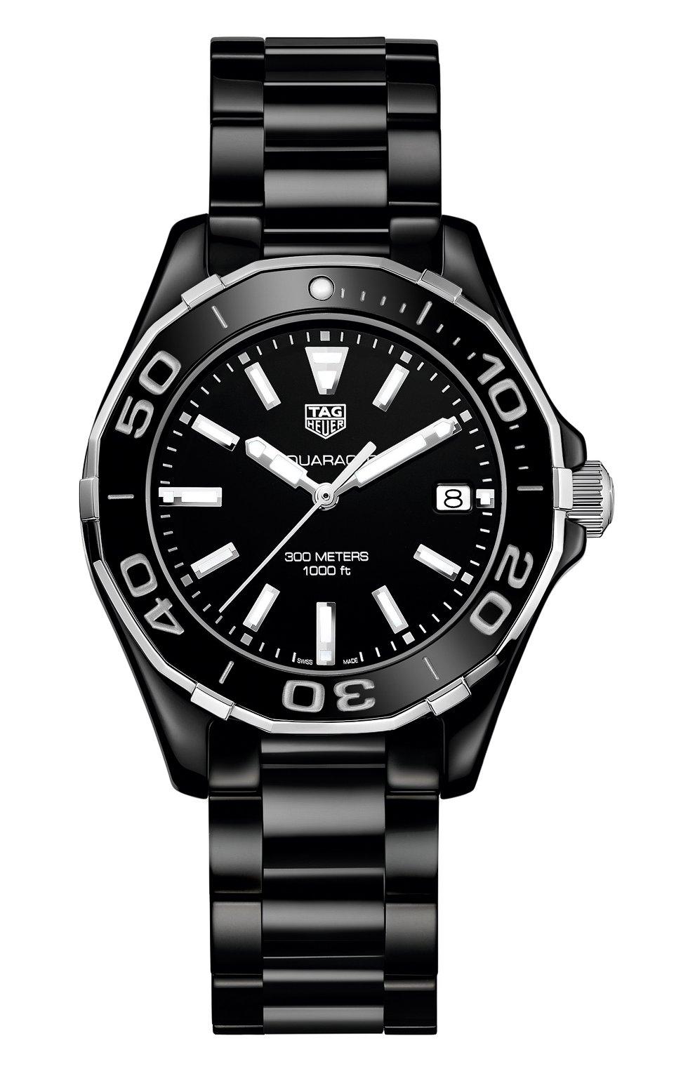Женские часы aquaracer TAG HEUER черного цвета, арт. WAY1390.BH0716 | Фото 1