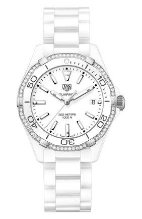 Женские часы TAG HEUER белого цвета, арт. WAY1396.BH0717 | Фото 1