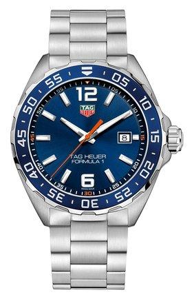 Мужские часы TAG HEUER синего цвета, арт. WAZ1010.BA0842 | Фото 1