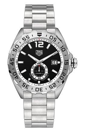 Мужские часы calibre 6 TAG HEUER черного цвета, арт. WAZ2012.BA0842 | Фото 1