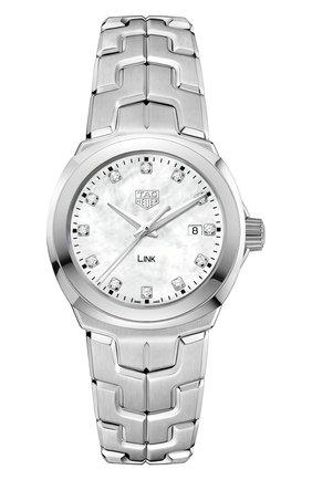 Женские часы TAG HEUER перламутрового цвета, арт. WBC1312.BA0600 | Фото 1