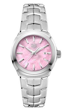 Женские часы quartz TAG HEUER розового цвета, арт. WBC1317.BA0600 | Фото 1