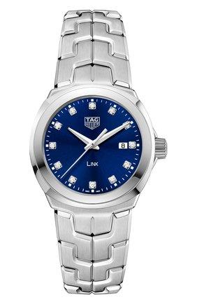 Женские часы quartz TAG HEUER синего цвета, арт. WBC1318.BA0600 | Фото 1