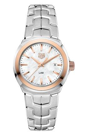 Женские часы TAG HEUER перламутрового цвета, арт. WBC1350.BA0600 | Фото 1