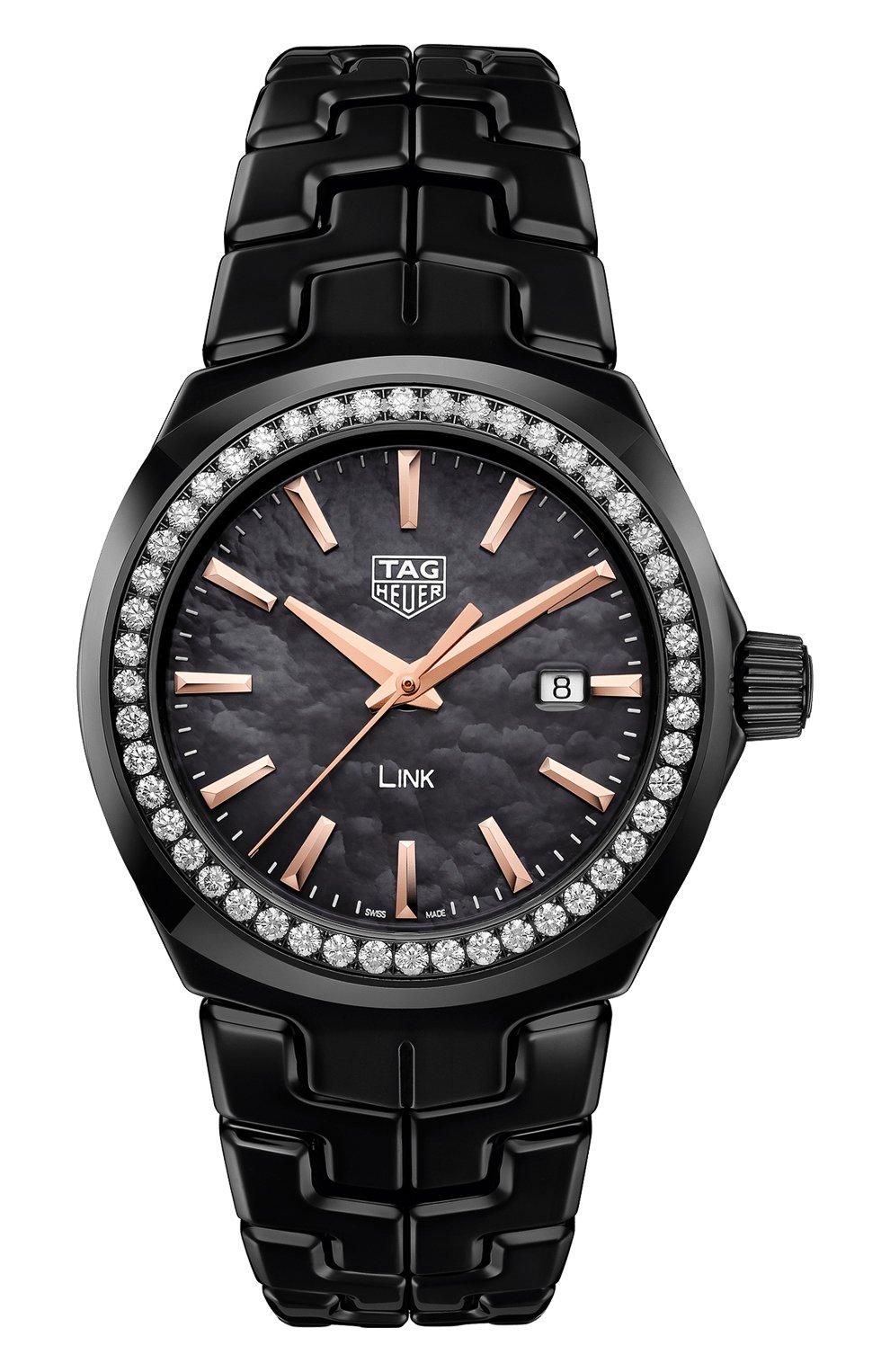 Женские часы TAG HEUER черного цвета, арт. WBC1390.BH0744   Фото 1
