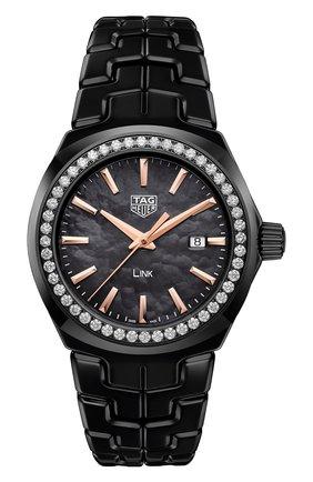 Женские часы TAG HEUER черного цвета, арт. WBC1390.BH0744 | Фото 1