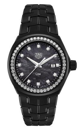 Женские часы TAG HEUER черного цвета, арт. WBC1394.BH0745 | Фото 1