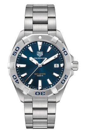 Мужские часы aquaracer TAG HEUER синего цвета, арт. WBD1112.BA0928 | Фото 1