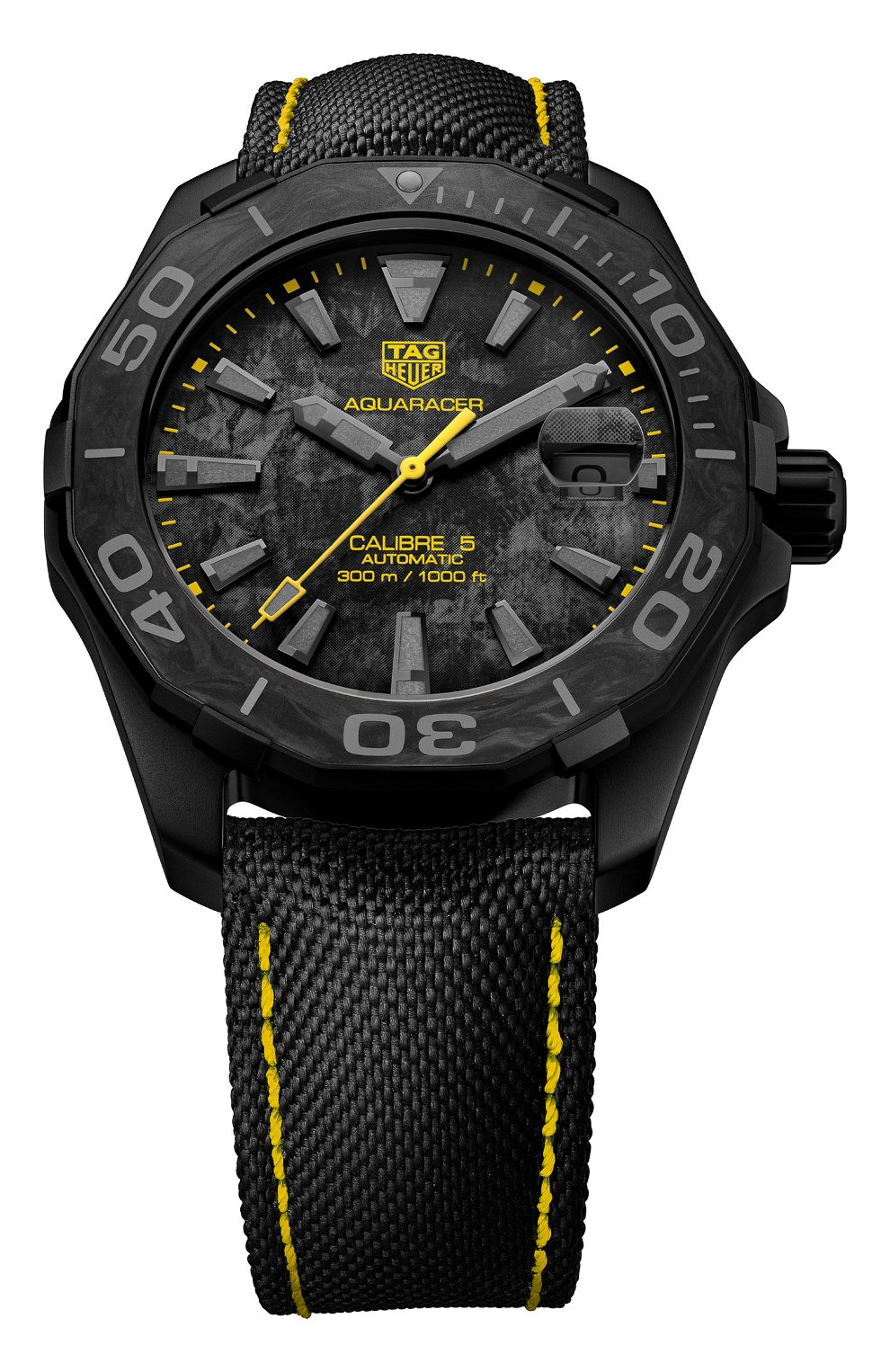 Мужские часы calibre 5 TAG HEUER черного цвета, арт. WBD218B.FC6446   Фото 1