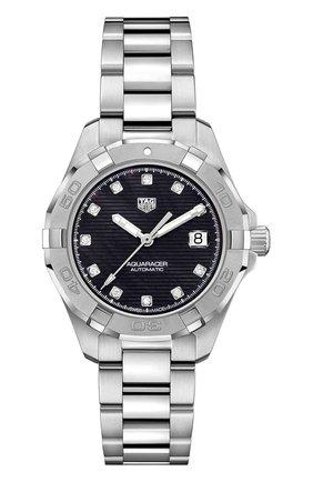 Женские часы aquaracer calibre 9 TAG HEUER черного цвета, арт. WBD2312.BA0740 | Фото 1