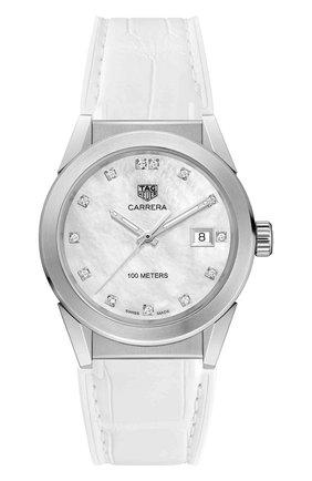 Женские часы carrera quartz TAG HEUER перламутрового цвета, арт. WBG1312.FC6412 | Фото 1