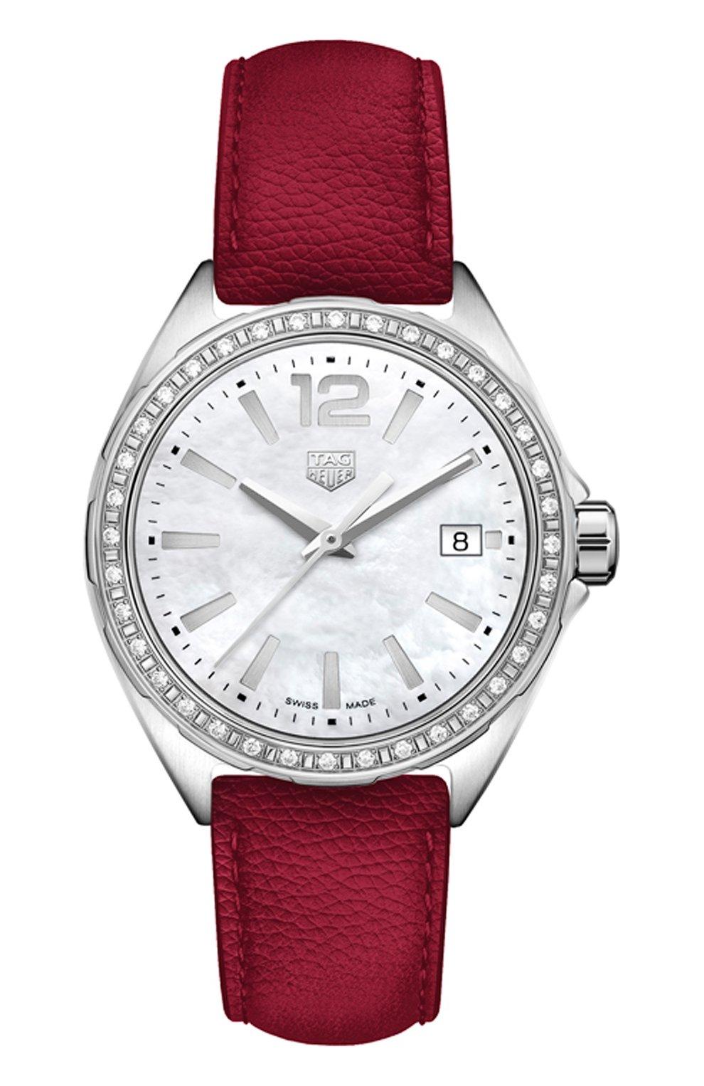 Женские часы TAG HEUER перламутрового цвета, арт. WBJ131A.FC8253   Фото 1
