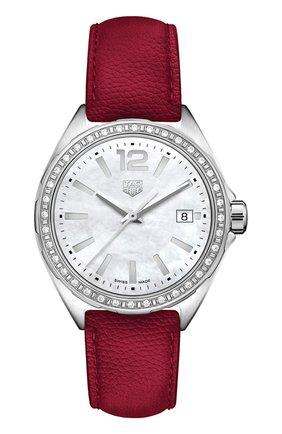 Женские часы TAG HEUER перламутрового цвета, арт. WBJ131A.FC8253 | Фото 1